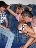 Beautiful teen girl gets banged ergo well before their way boyfriend