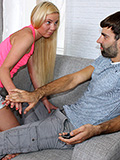 Pretty blonde cutie disciplined & banged by alien before her BF